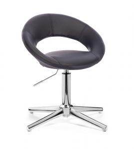 Židle NAPOLI na stříbrném kříži - černá