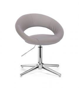 Židle NAPOLI na stříbrném kříži - šedá