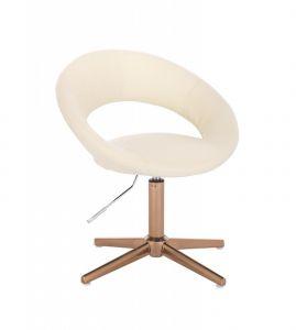 Židle NAPOLI na zlatém kříži - krémová