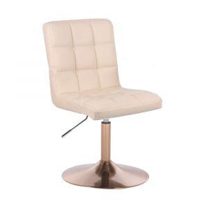 Kosmetická židle TOLEDO na zlatém talíři - krémová