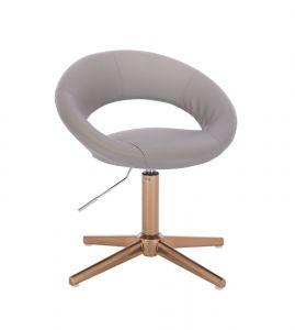 Židle NAPOLI na zlatém kříži - šedá