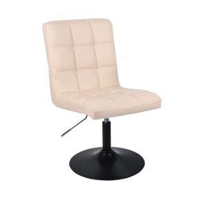 Židle TOLEDO na černém talíři - krémová