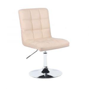 Židle TOLEDO na stříbrném talíři - krémová