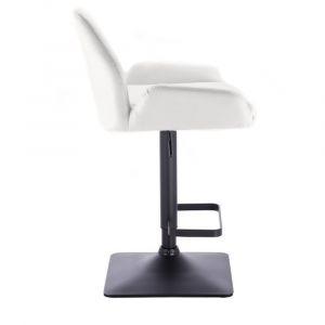 Barová židle LION na černé základně - bílá
