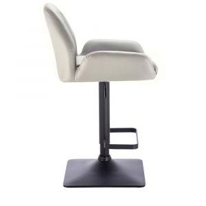 Barová židle LION na černé základně - šedá
