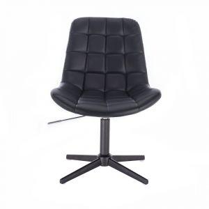 Kosmetická židle PARIS na černém kříži - černá