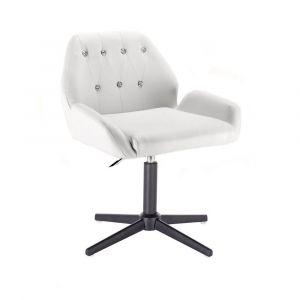 Židle LION na černém kříži - bílá