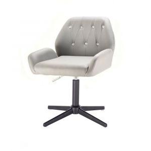 Židle LION na černém kříži - šedá