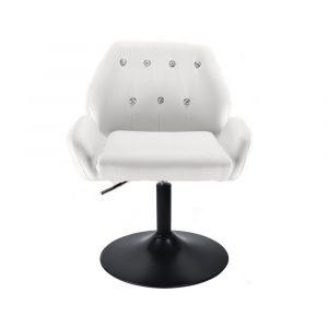 Židle LION na černém talíři - bílá