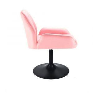 Židle LION na černém talíři - růžová