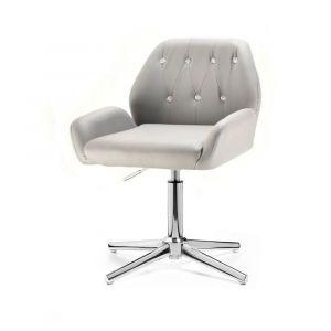 Židle LION na stříbrném kříži - šedá