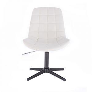 Židle PARIS na černém kříži - bílá