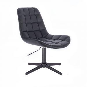 Židle PARIS na černém kříži - černá