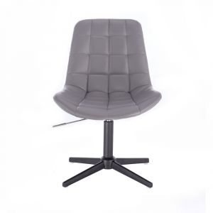 Židle PARIS na černém kříži - šedá