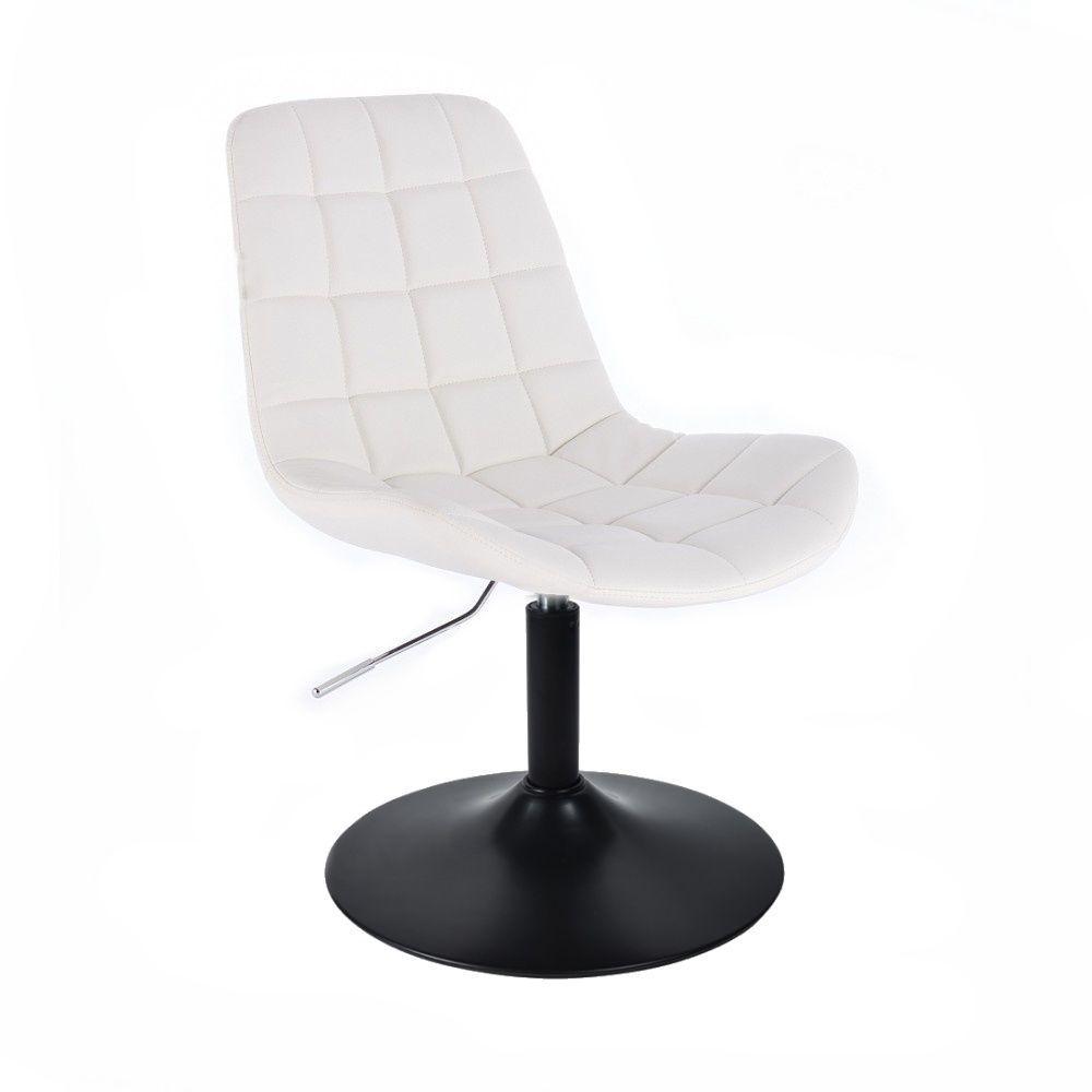 Židle PARIS na černém talíři - bílá