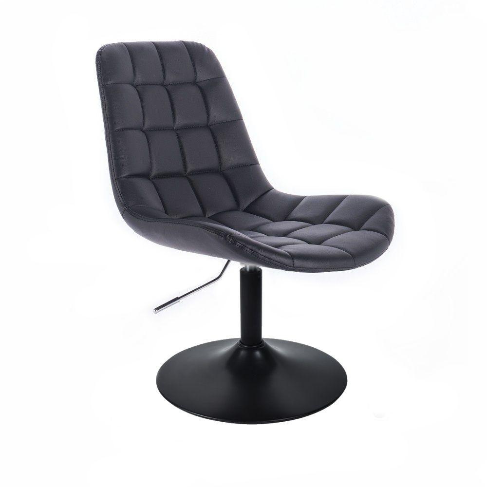 Židle PARIS na černém talíři - černá