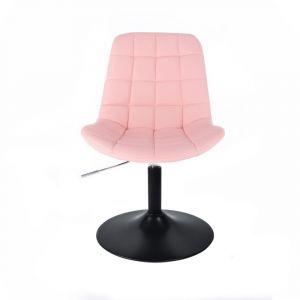 Židle PARIS na černém talíři - růžová