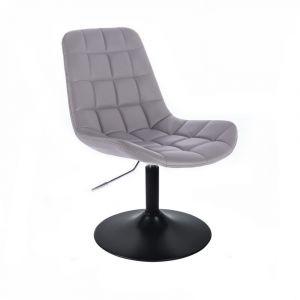 Židle PARIS na černém talíři - šedá