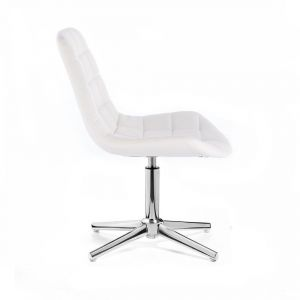 Židle PARIS na stříbrném kříži - bílá