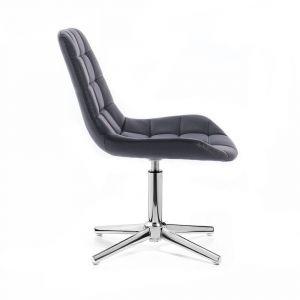 Židle PARIS na stříbrném kříži - černá
