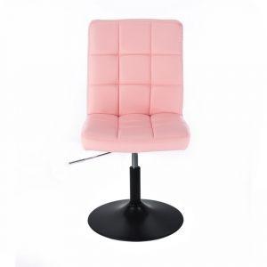 Židle TOLEDO na černém talíři - růžová
