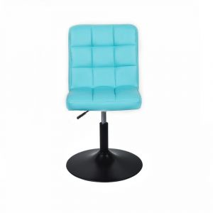 Židle TOLEDO na černém talíři - tyrkysová