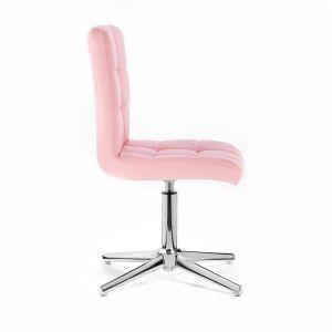 Židle TOLEDO na stříbrném kříži - růžová