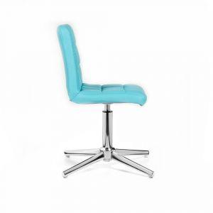 Židle TOLEDO na stříbrném kříži - tyrkysová