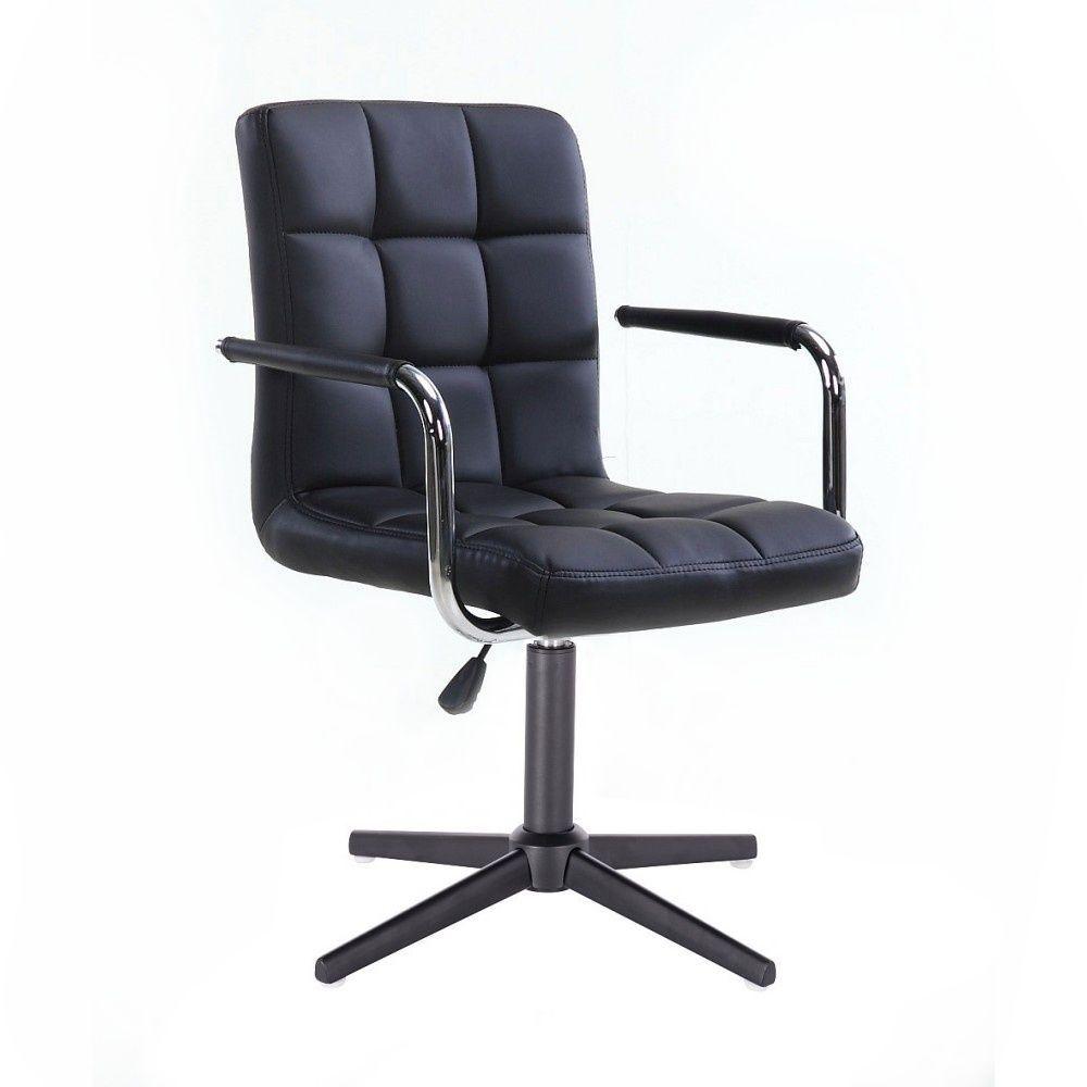 Židle VERONA na černém kříži - černá