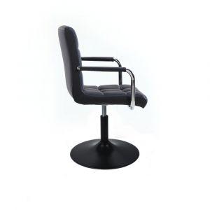 Židle VERONA na černém talíři - černá