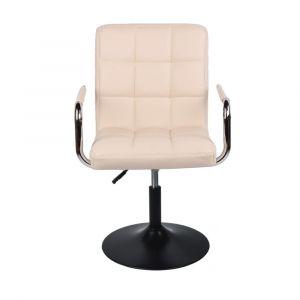 Židle VERONA na černém talíři - krémová