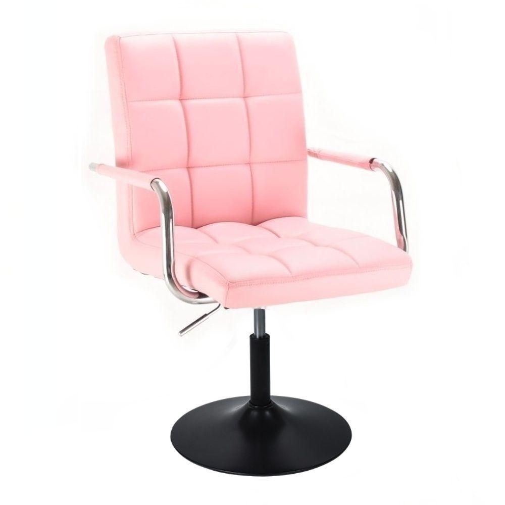 Židle VERONA na černém talíři - růžová