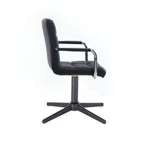 Kosmetická židle VERONA na černém kříži - černá