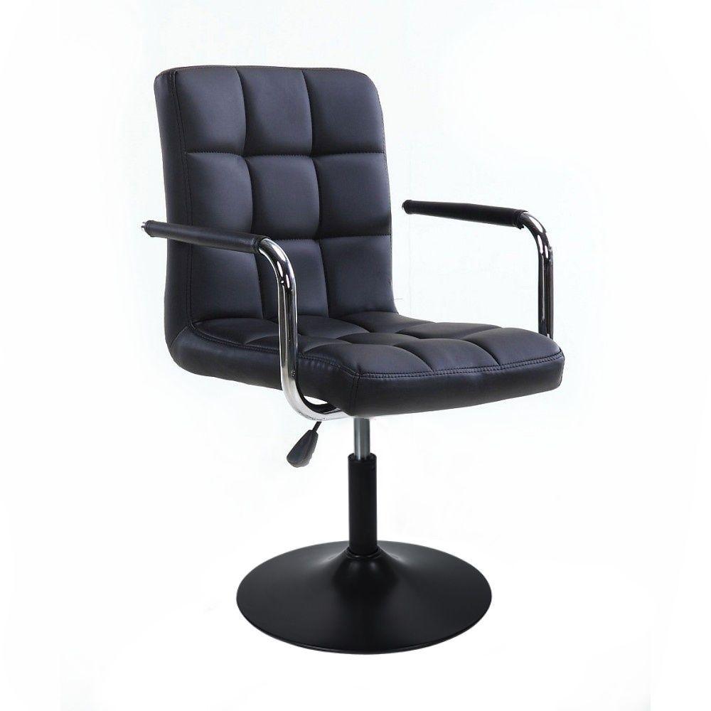 Kosmetická židle VERONA na černém talíři - černá