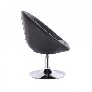 Kosmetické křeslo VERA na stříbrném talíři - černé