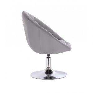 Kosmetické křeslo VERA na stříbrném talíři - šedé