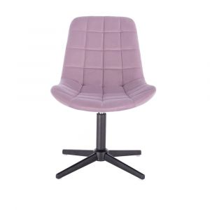 Židle PARIS VELUR na černém kříži - fialový vřes