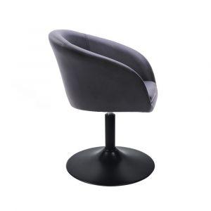 Židle VENICE na černé kulaté podstavě - černá
