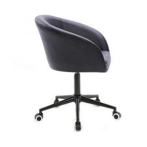 Židle VENICE na černé podstavě s kolečky - černá