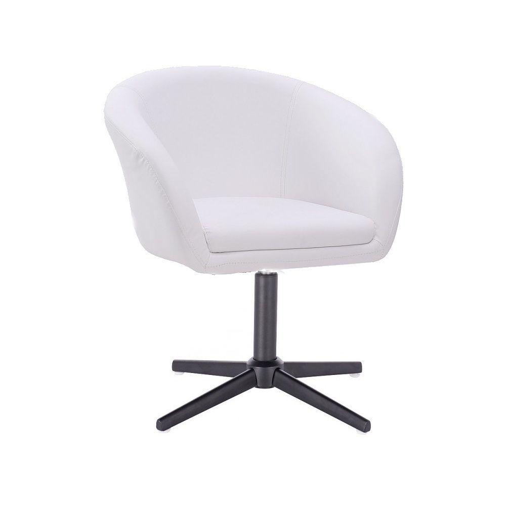 Židle VENICE na černém kříži - bílá