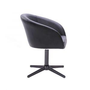 Židle VENICE na černém kříži - černá