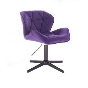 Židle MILANO VELUR na černém kříži - fialová