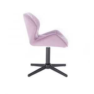 Židle MILANO VELUR na černém kříži - fialový vřes