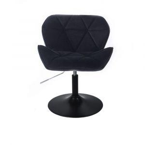 Židle MILANO VELUR na černém talíři - černá