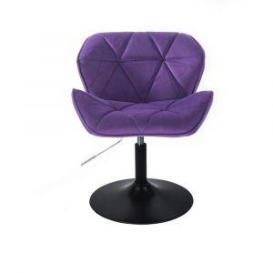 Židle MILANO VELUR na černém talíři - fialová