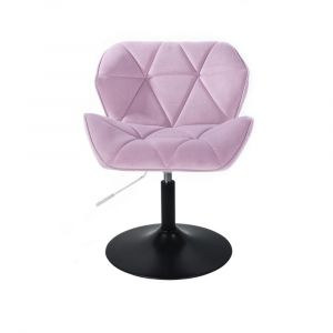 Židle MILANO VELUR na černém talíři - fialový vřes