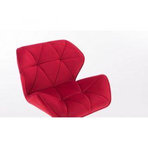 Židle MILANO VELUR na stříbrném kříži - červená
