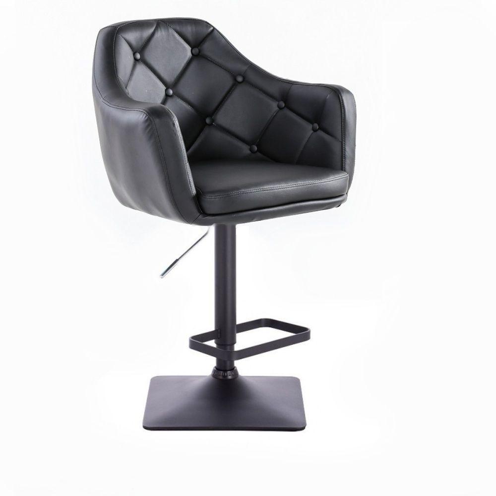 Barová židle ANDORA na černé základně - černá