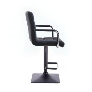 Barová židle VERONA na černé podstavě - černá