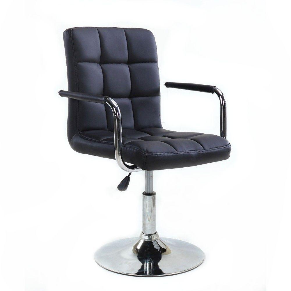 Židle VERONA na kulaté podstavě černá